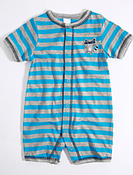 Baby Casual/Daily Striped Color Block One-Pieces,Cotton Summer Short Sleeve