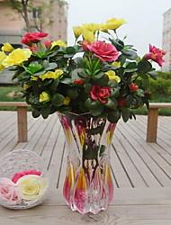 1 Ast Kunststoff Azalea Tisch-Blumen Künstliche Blumen 25*25*40