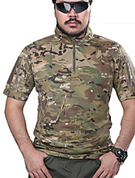 Men's Tops Hunting Leisure Sports Waterproof Breathable Windproof Wearable Spring Summer Fall/Autumn Army Green