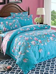 Satz von 4 Stück Baumwolle Bettwäsche Steppdecke 220 * 230 250 * Bettuch 250 pillowcase