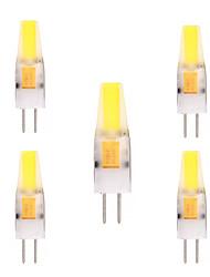 2W G4 Luci LED Bi-pin T 1 COB 150-200 lm Bianco caldo Luce fredda Decorativo AC 12 V 5 pezzi