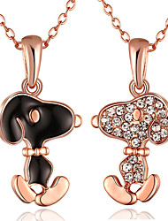 Women's Pendant Necklaces Chain Necklaces AAA Cubic Zirconia Animal Shape Zircon Silver Plated Gold Plated Rose Gold Plated Alloy Unique