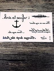 1 Временные тату Прочее С рисункомЖенский Мужской Вспышка татуировки Временные татуировки