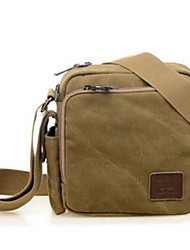 Men Bags All Seasons Canvas Shoulder Bag with for Casual Brown
