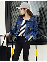 Female long-sleeved denim jacket Slim thin coat Korean version of the new student bf wind lady jacket
