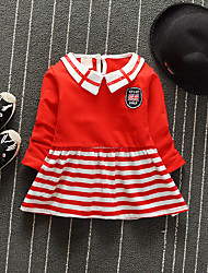 Girl's Going out Casual/Daily Striped Dress Summer Sleeveless