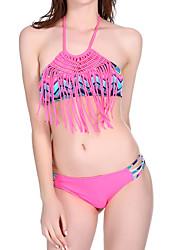 Bikini Da donna Uncinetto All'americana Acrilico Elastene