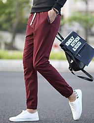 homens queda&# 39; s casual calças harem pants pés calças slim calças calças esportivas calças de cintura elástica