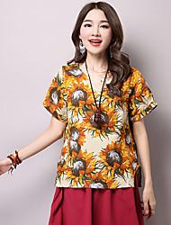 Zeichen fett mm 2017 Sommer neue große Größe Baumwolle gedruckt kurz-sleeved T-Shirt-Shirt