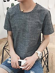 Nouveaux hommes&Couleur ronde en rond cou manches courtes t-shirt aberdeen vent