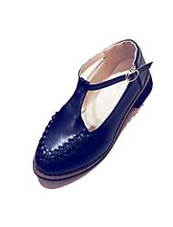 Heels Spring Summer Comfort PU Casual Low Heel Buckle