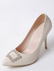 Heels Spring Summer Fall Winter Club Shoes PU Office & Career Dress Casual Stiletto Heel Rhinestone