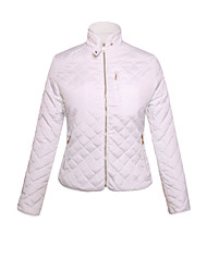 Women's Diamond Quilted High Neck Cotton Jacket