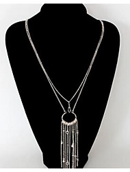 Women's Pendant Necklaces Jewelry Imitation Diamond Chrome Fashion Euramerican Gold Silver Jewelry For Birthday Gift Office & Career 1pc