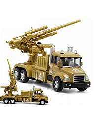 Military Vehicle Pull Back Vehicles 1:32 Metal Plastic Khaki