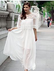 mulheres temperamento coreano fino falso de duas chiffon saia de fadas vestido de mulher vestido de mangas curtas