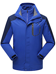 Men's 3-in-1 Jackets Waterproof Thermal / Warm Windproof Fleece Lining Dust Proof Breathable Double Sliders Winter Jacket 3-in-1 Jackets