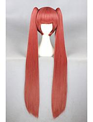 Gugure reto longo! Kokkuri san peruca cosplay melancia vermelho sintético 40inch anime cosplay cabelo ponytails peruca cs-227a