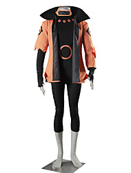 Inspired by Naruto Naruto Uzumaki Anime Cosplay Costumes Cosplay Suits Solid Short Sleeve Leotard Coat Gloves For Male