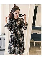 Sign 2017 spring new Korean version was thin chiffon dress female