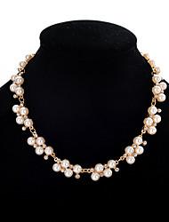 2017 Hot Elegant Charm Rhinestone Pearl Necklace Choker Statement Necklace Bridal Wedding Jewelry Accessories
