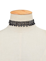 Women's Choker Necklaces Crystal Single Strand Crystal Acrylic Tassel Tassels Euramerican Fashion Personalized Jewelry ForBusiness Daily