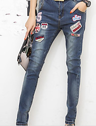 Действительно сделать новый значок 2015 джинсы джинсы стрейч тонкие брюки гарем ноги брюки дети