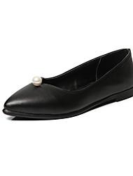 Women's Flats Summer Fall Comfort Light Soles PU Office & Career Dress Casual Flat Heel Pearl