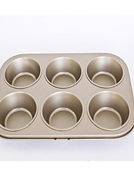 Non stick cake mould 6 cups muffin baking pan large size FDA carbon steel