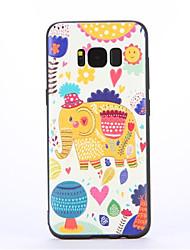 Pour Motif Coque Coque Arrière Coque Eléphant Flexible PUT pour Samsung S8