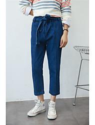 Sign 2017 Korean radish washed jeans Slim was thin pantyhose feet