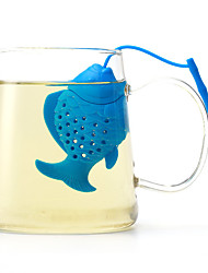 The Silicone Fish Make Tea Fashion Articles For Daily Use Creative Color Random