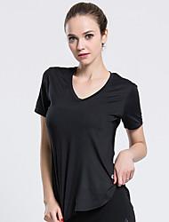 Women's Short Sleeve Running Sweatshirt Breathable Summer Sports Wear Solid