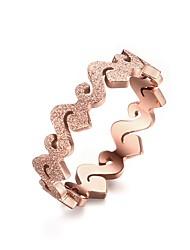 New Charming Finger Ring Exquisite 5MM Titanium Steel Matte Ring Rose Gold Plated Ring Temperament Women bijoux Wedding gift