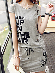 Really making 2016 summer new trend of pierced printing leisure suit dress women