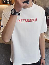 Sommermänner&# 39; s Briefe gedruckt Kurzarm T-Shirt Café