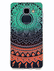 For Samsung Galaxy A3(2017) A5(2017) Color lace Flower Pattern Soft TPU Material Phone Case A7(2017) A510 A310