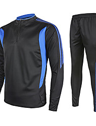 OUTTO® Men's Long Sleeve Soccer Bottoms Breathable Green Blue Orange Exercise & Fitness S M L XL XXL