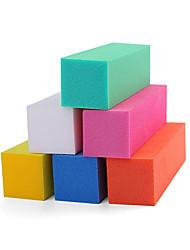 10pcs burete de unghii salon bucată de unghii instrumente de manichiură consumabile (culoare aleatorii)