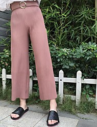 Sign tide Dongguk door autumn fashion solid color pleated wide leg pants pantyhose Nett