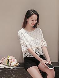 Знак корейской версии сладкий кружевной блузке диких немного свежих кондиционером рубашка блузка кружева рубашку