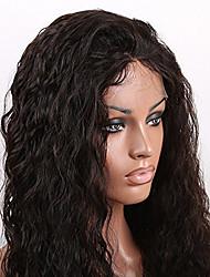 laço do cabelo humano completo perucas Remy virgem onda profunda natural brasileiro peruca densidade de 130% com o cabelo do bebê