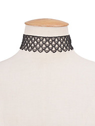 Women's Choker Necklaces Statement Necklaces Jewelry Lace Single Strand Fashion Vintage Euramerican Statement Jewelry Black Jewelry
