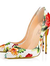 Mujer-Tacón Stiletto-Confort Innovador-Tacones-Boda Vestido Fiesta y Noche-Cuero-Blanco
