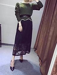 2017 grand prix européen au début du printemps tricot couture robe de dentelle taille