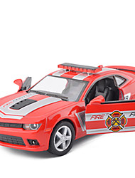 Truck Pull Back Vehicles Car Toys Metal Red White Yellow Model & Building Toy