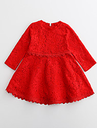Girl's Casual/Daily Holiday Jacquard Dress,Cotton Summer Half Sleeve