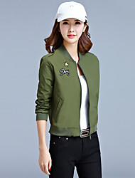 Sign autumn new long-sleeved jacket short paragraph Korean wild ladies jacket coat Students