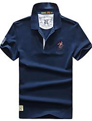Homme Tee-shirt Respirable Séchage rapide Eté Blanc Gris Noir Bleu Foncé Bleu royal