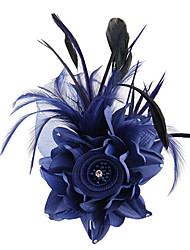 Атлас Ткань Заставка-Свадьба Особые случаи на открытом воздухе Вуалетки Цветы Аксессуар для волос 1 шт.